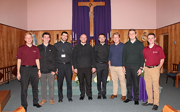 7 SMR Alumni Seminarians Visited Campus During Advent