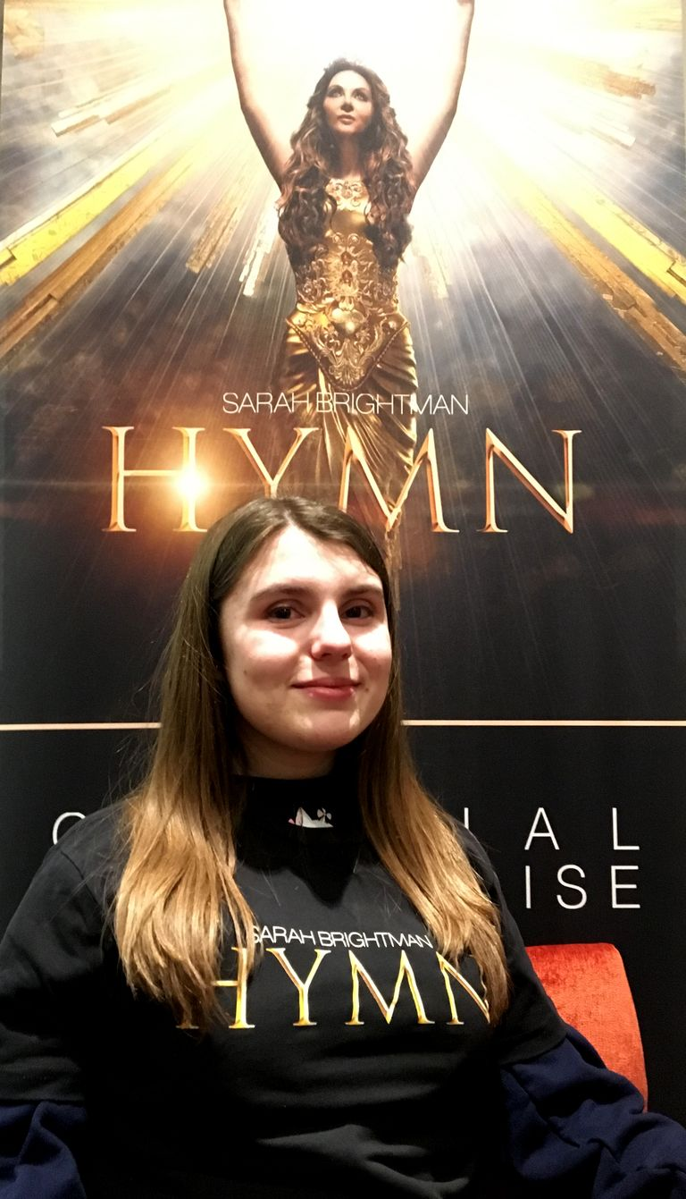 Katie O'Shields Performs as part of Sarah Brightman's World Tour