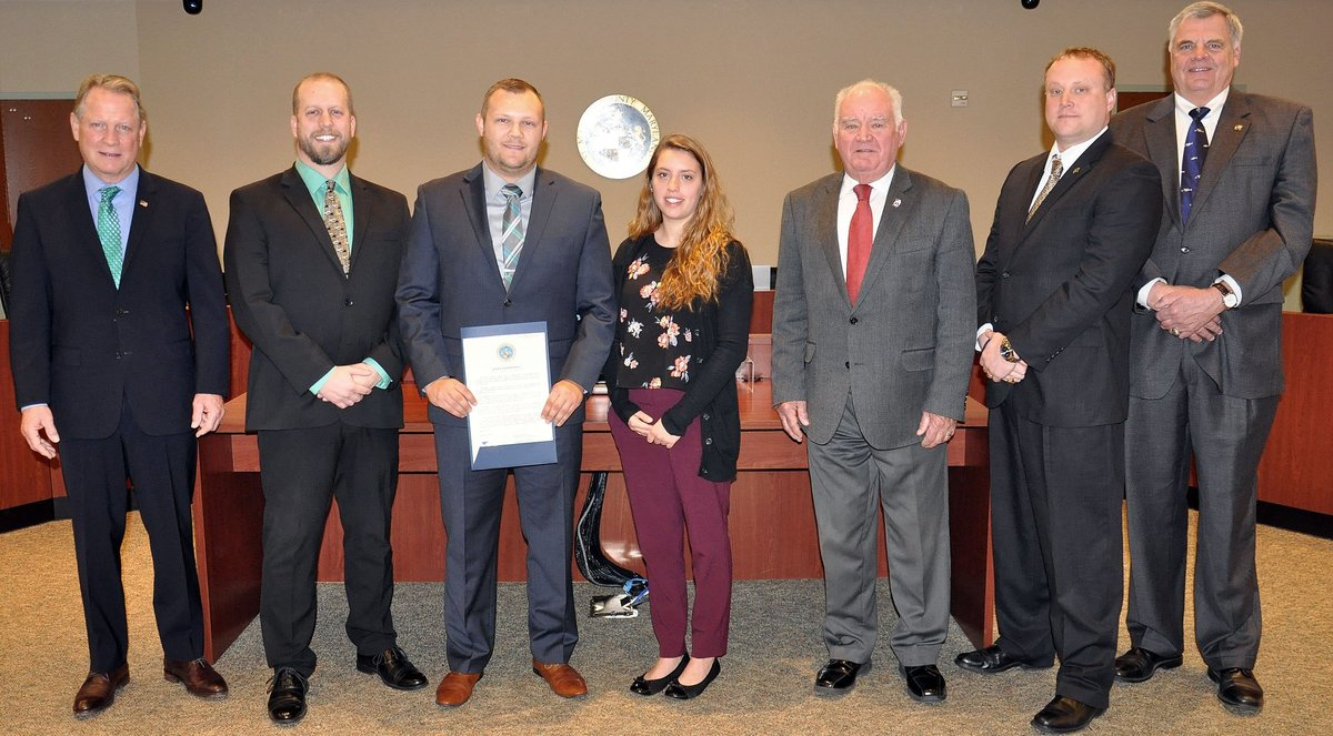 SMR Athletic Trainers Receive Athletic Training Proclamation from Commissioners